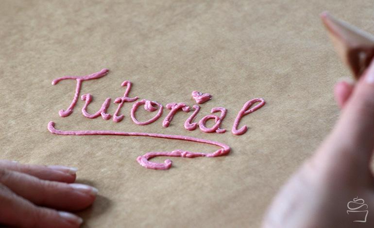 Schreiben mit Buttercreme Tutorial