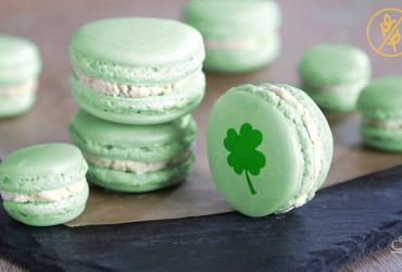 Macarons mit weißer Schokoladen Pistazien Ganache <br>– Happy St. Patrick's Day –