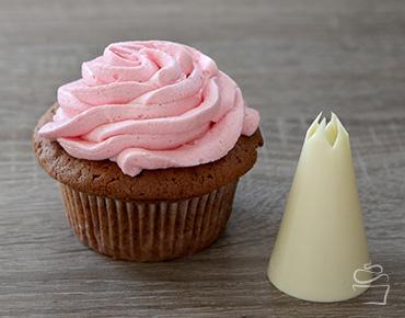 Cupcake Spritztechniken Spritztülle Blüte