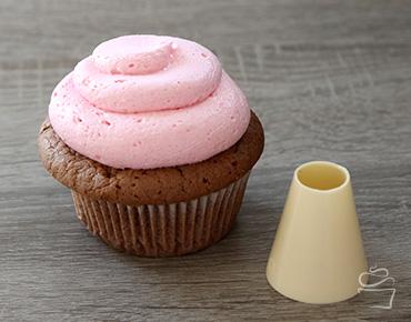 Cupcake Spritztechniken Spritztülle Loch