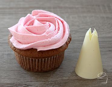Cupcake Spritztechniken Spritztülle Rose