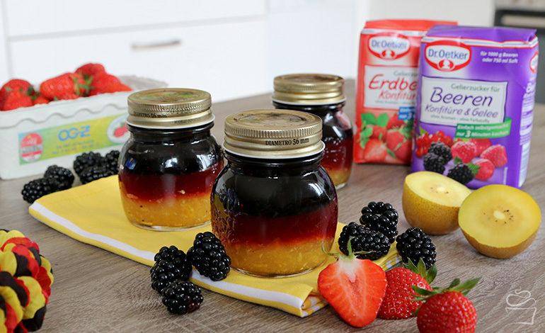 Deutschland Marmelade – Brombeer-Johannisbeere, Erdbeer-Hibiskus & Mango-Kiwi {Werbung}