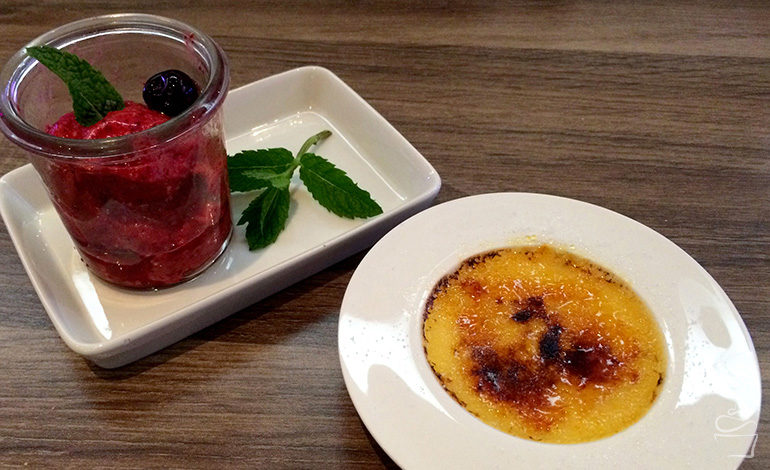 Crème brûlée & Amarena Kirschsorbet {Werbung}