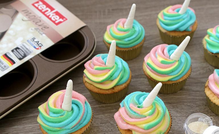 Einhorn Cupcakes Zenker