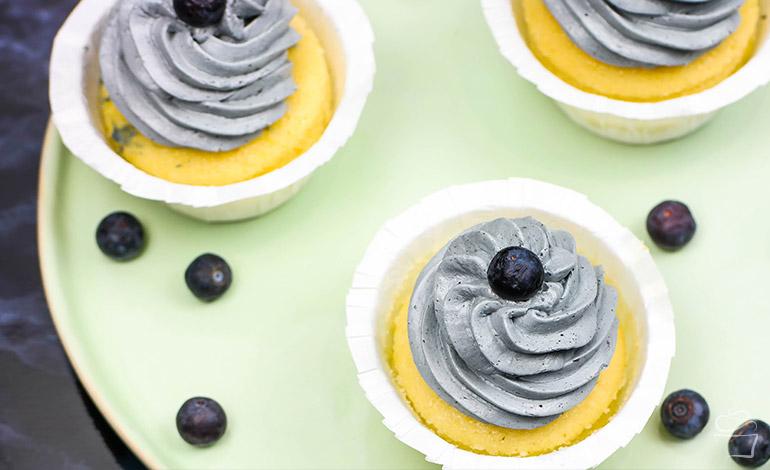 Blaubeer Cupcakes Blogparade L'universe de la petite lulu
